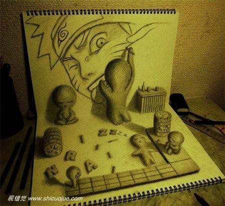 创意3d绘画日本艺术家