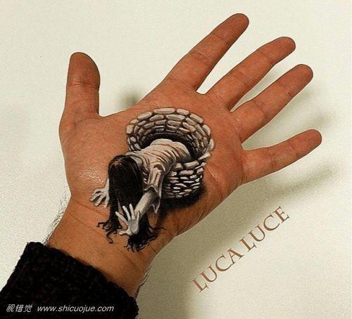 3d手绘 超现实的视错觉意大利艺术家luca